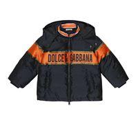 Dolce & Gabbana Kids piumino con cappuccio