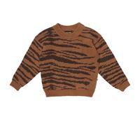 Mini Rodini pullover a stampa in lana e cotone