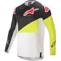 Alpinestars maglia cross Alpinestars techstar factory bianco nero giallo