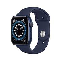 Apple novità Apple watch series 6 (gps, 44 mm) cassa in alluminio azzurro con cinturino sport deep navy