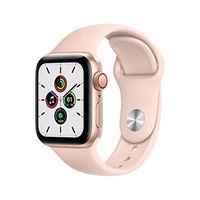 Apple novità Apple watch se (gps + cellular, 40 mm) cassa in alluminio color oro con cinturino sport rosa sabbia