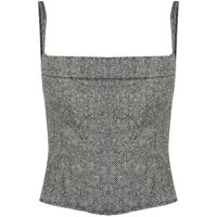 Dsquared2 top aderente - bianco