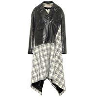Marni giacca biker in pelle e lana
