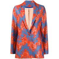 Koché blazer con applicazione - blu