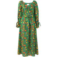 La Doublej floral print balloon sleeve dress - verde