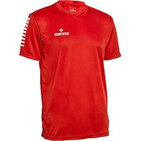 Derbystar contra trikot, maglia da bambino, rosso/bianco, 152
