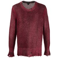 Avant Toi maglione con effetto vissuto - rosso
