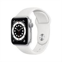 Apple watch series 6 gps 40mm alluminio silver cinturino sport bianco