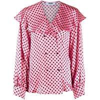 MSGM blusa doppiopetto a pois - rosa