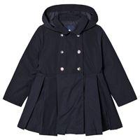 Jacadi - pleated button cappotto navy - bambina - 3 anni - navy