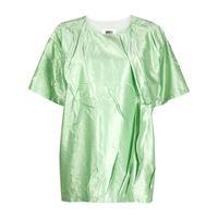 MM6 Maison Margiela top oversize con effetto stropicciato - verde
