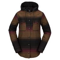 VOLCOM hooded flannel