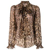 Dolce & Gabbana blusa leopardata - marrone