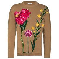 Valentino maglione a fiori - color marrone
