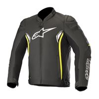 ALPINESTARS sp-1 v2 leather jacket - (black/yellow fluo)