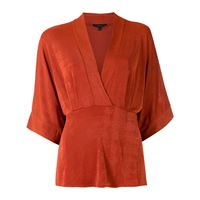 Alcaçuz blusa a portafoglio sabrina - arancione