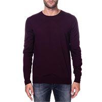 PAOLO PECORA maglia bordeaux in lana modello finezza 16