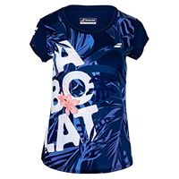 Babolat exercise graphic tee w, maglietta donna, immobile blu, xl