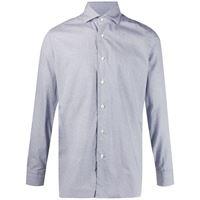 Barba camicia con stampa geometrica mini - di colore blu