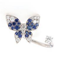 Crivelli anello farfalla diamanti zaffiri crivelli 276-1289