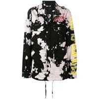 Philipp Plein giacca con effetto vernice - nero