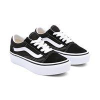 Vans scarpe bambino old skool platform (4-8 anni) (black-true white) bambino nero, taglia 31.5