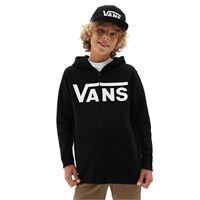 Vans felpa con cappuccio e zip bambino Vans classic (8-14+ anni) (black-white) boys nero, taglia l