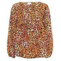 ANNA KOSTUROVA esclusiva mytheresa - blusa a stampa leopardo in seta