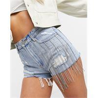 Miss Sixty - moral - pantaloncini di jeans effetto invecchiato-blu