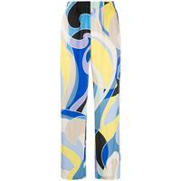 Emilio Pucci pantaloni con stampa astratta - blu