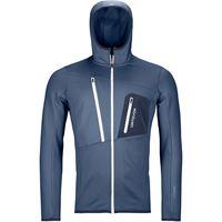 Ortovox felpa con cappuccio fleece grid uomo blu