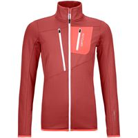 Ortovox giacca fleece grid donna rosso
