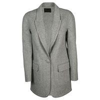 ALEXANDER WANG cappotto donna 1w282019d9030 lana grigio
