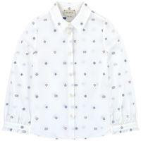 Gucci - camicia ricamata in oxford 6 anni