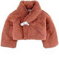 Raspberry Plum - giacca in eco-pelliccia - bambina - 5-6 anni - rosso