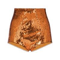 Dolce & Gabbana shorts con paillettes - arancione