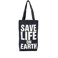 Katharine Hamnett London borsa tote save life on earth - blu