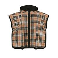 Burberry Kids poncho a quadri in lana
