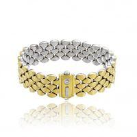 Chimento bracciale Chimento double mosaico in oro giallo e bianco con diamante