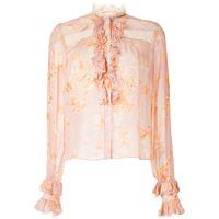 Alexis camicia con dettaglio a fiori - rosa