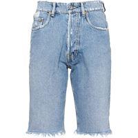 Miu Miu shorts denim effetto vintage - blu