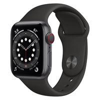 Apple watch series 6 gps e cellular 40mm cassa in alluminio grigio siderale con cinturino sport nero