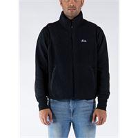 STÜSSY smanicato block sherpa vest uomo