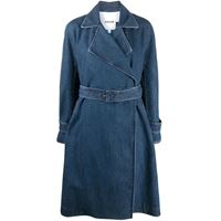 Koché cappotto denim con cintura - blu