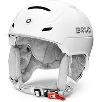 Briko ambra, casco da sci/neve donna, matt shiny pearl white, 56-58 cm