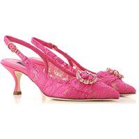 Dolce & Gabbana scarpe con tacco da donna in outlet, fuxia, textile, 2021, 35 36 36.5 37.5
