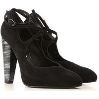 Stuart Weitzman scarpe con tacco da donna in outlet, nero, scamosciato, 2021, 35.5 36 36.5 38 38.5 39