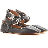 Givenchy scarpe ballerine in outlet, nero, pelle, 2021, 35 35.5 36