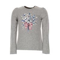Monnalisa t-shirt bambina in outlet, grigio, cotone, 2021, 2y 3y 4y