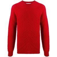 Mackintosh maglione a girocollo hutchins - rosso